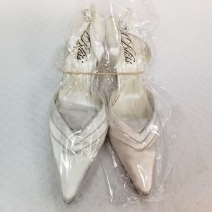 Bliss frisee wedding wire slingback heels #9